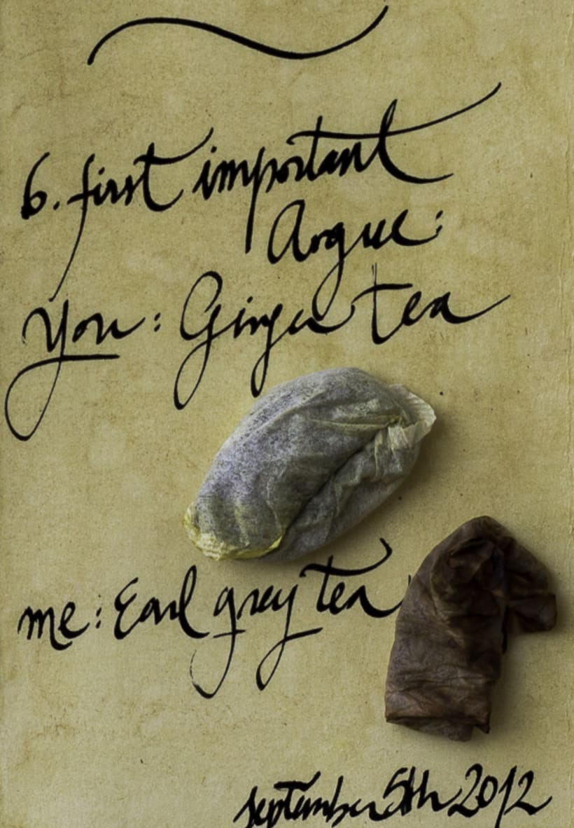 Our Tea Love Story (cabinet of curiosities) 10