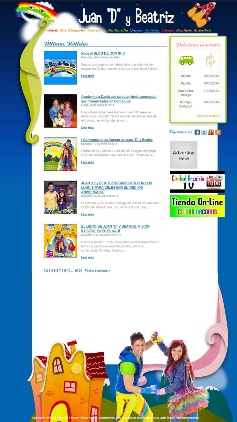 """Ciudad Arco Iris - Gestor de contenidos para grupo infantil Juan""""D"""" y Beatriz 1"""