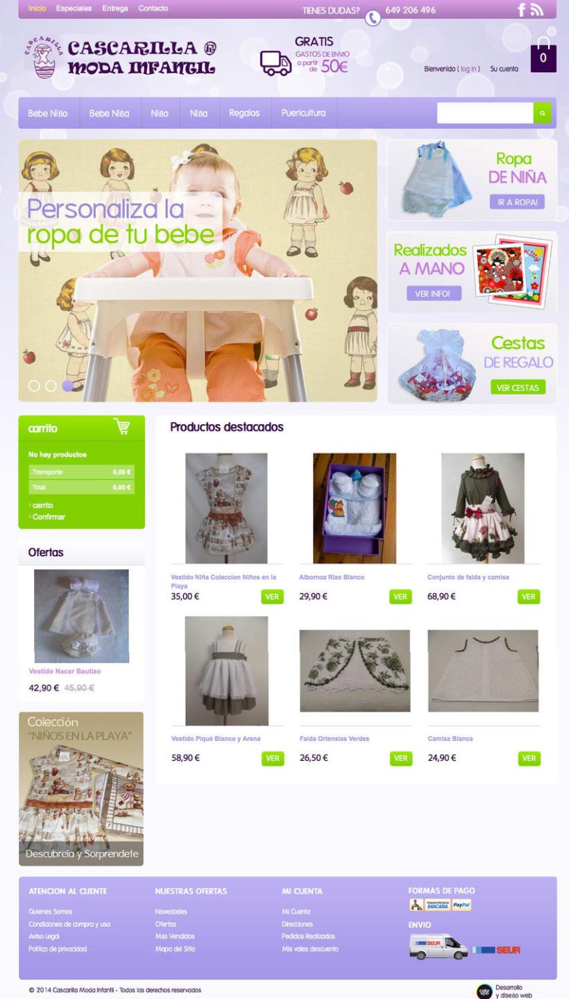 Cascarilla Moda Infantil - Tienda Online de ropa para bebes con diseños propios 1
