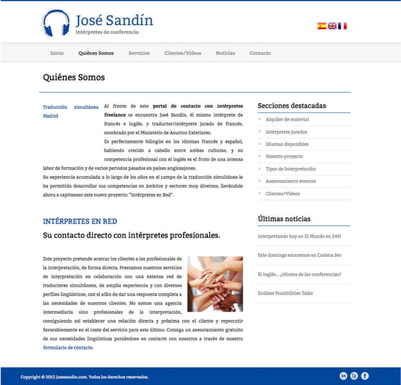 José Sandín - Gestor de contenidos para Intérprete de Conferencias 0
