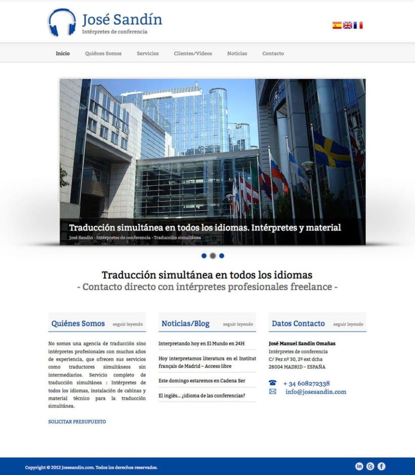 José Sandín - Gestor de contenidos para Intérprete de Conferencias 1