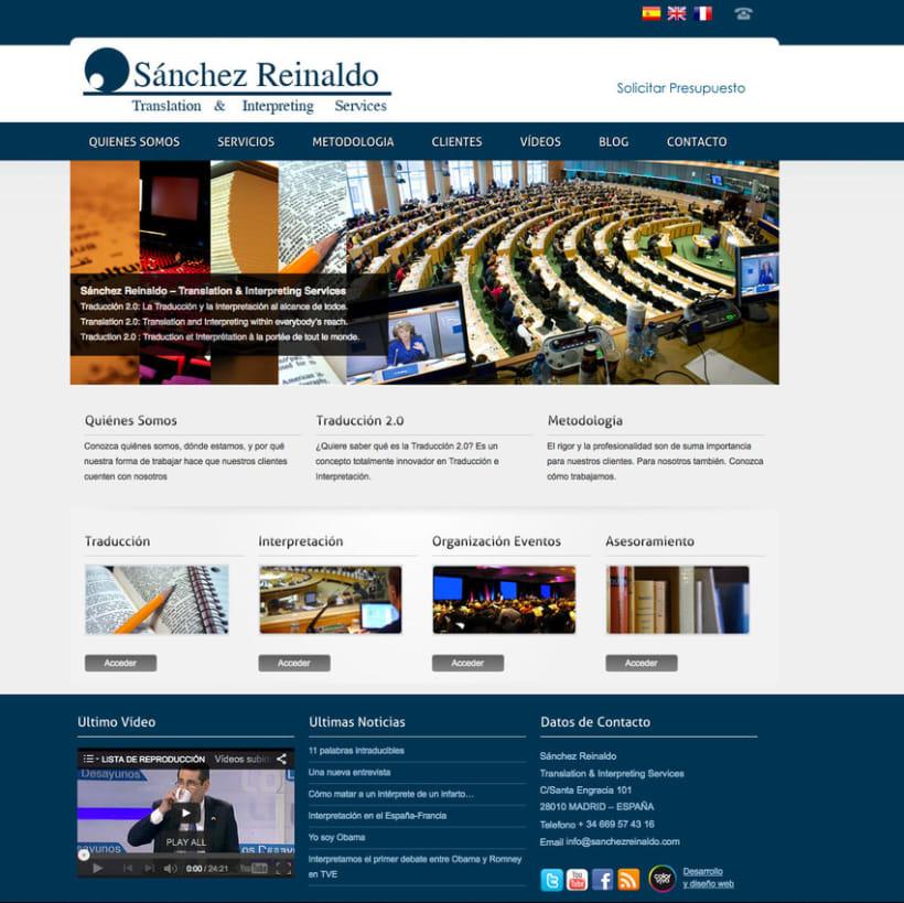 Sánchez Reinaldo - Gestor de contenidos para Intérprete - Traductor de idiomas  0