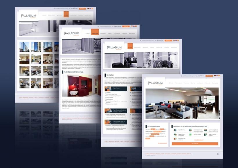 Hotel Palladium. Diseño Web 1