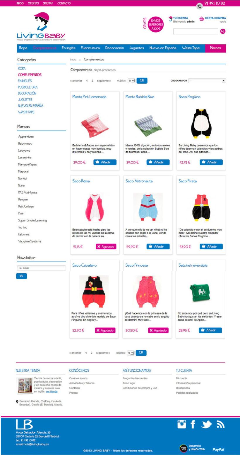 Livingbaby - Tienda on line de ropa y complementos de bebe 0