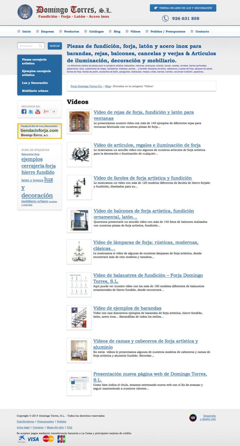 Domingo torres gestor de contenidos de empresa de forja - Domingo torres forja ...