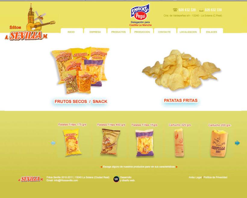 Fritos Sevilla s.l - Pagina estática  para empresa de frutos secos y snack 0