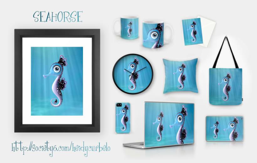 Cartoon Seahorse 3