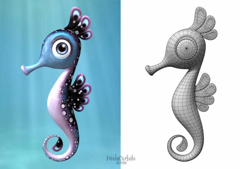Cartoon Seahorse 1
