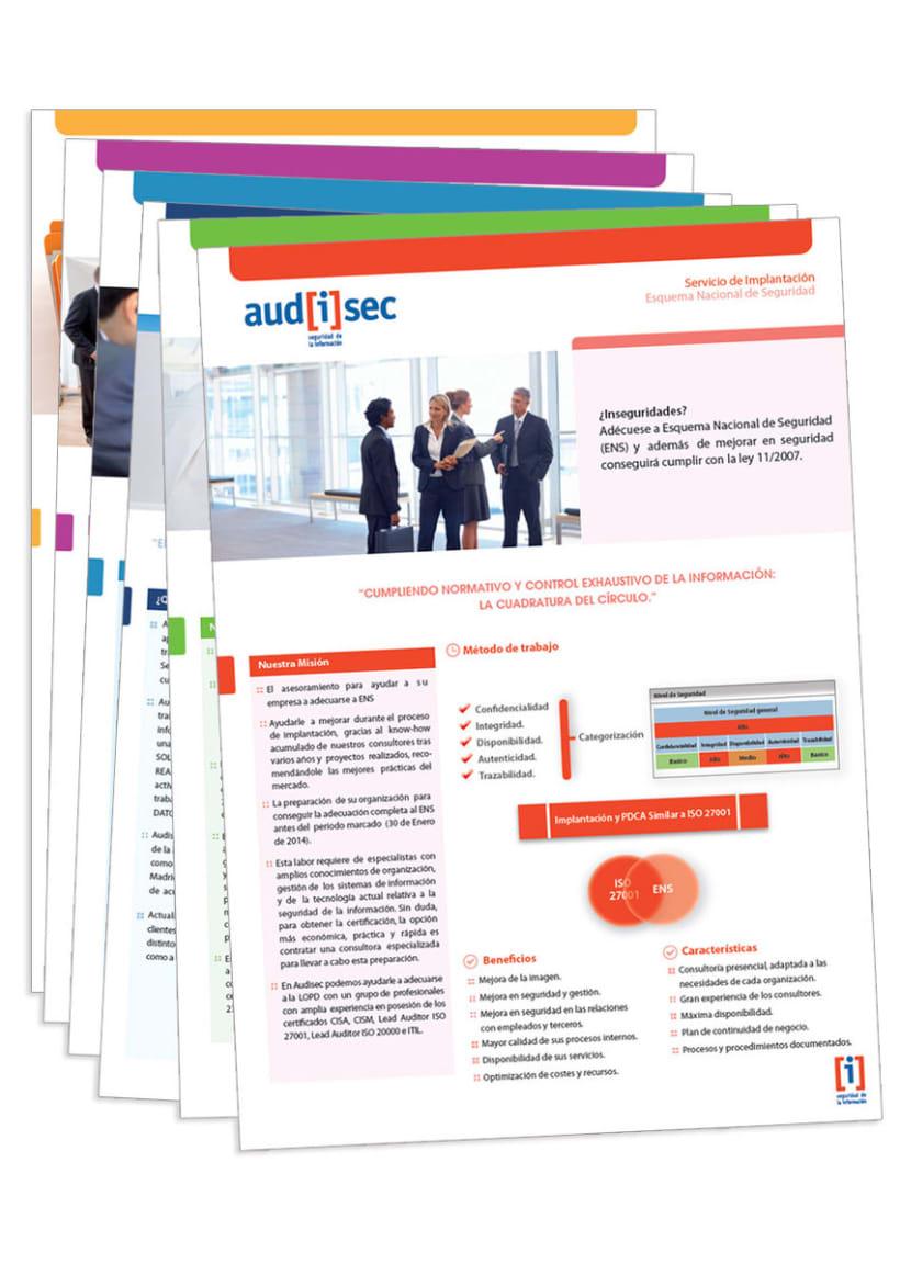 Audisec - Papeleria para empresa de auditoria(Variaciones logotipo, tarjetas institucionales, fichas corporativas...) -1