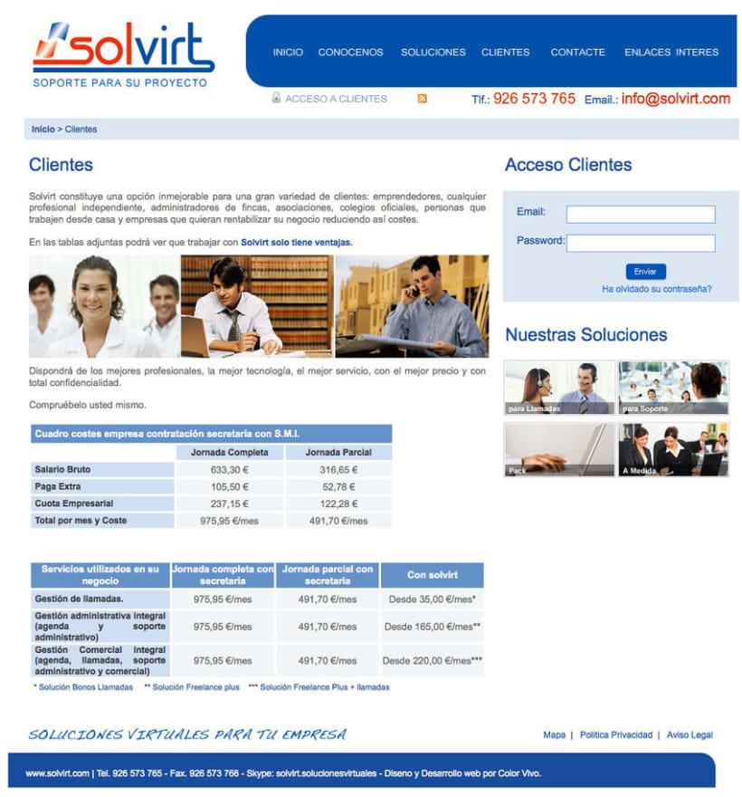 Solvirt - Pagina a medida para empresa Solvirt 1