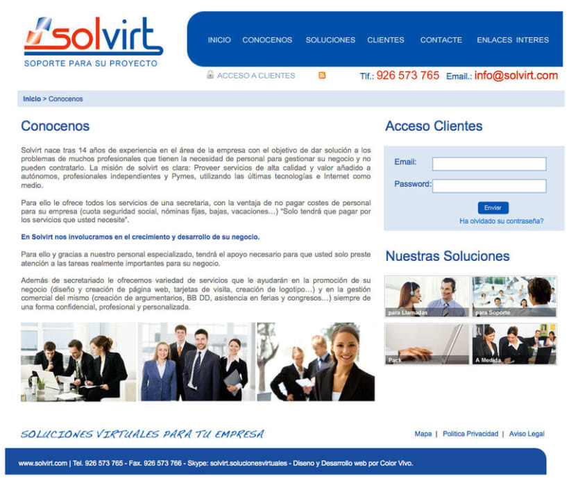 Solvirt - Pagina a medida para empresa Solvirt 2