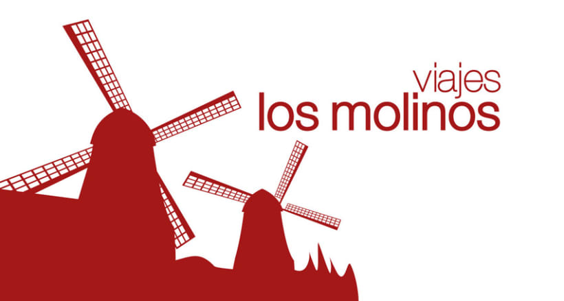 """Los Molinos - Logotipo para Agencia de viajes """"Los Molinos"""" -1"""