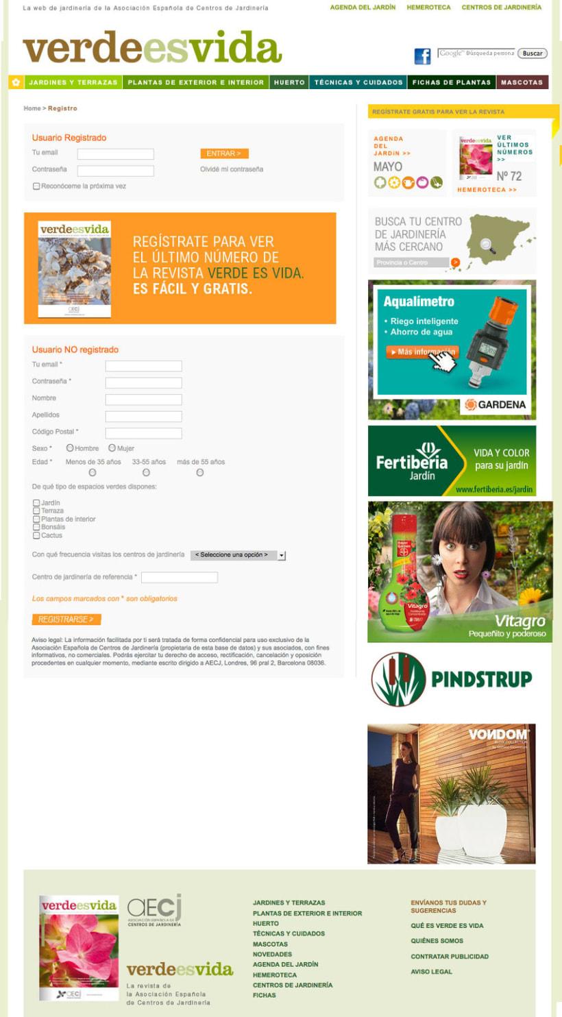 Verdeesvida - Pagina a medida para la Asociación Española de Centros de Jardinería(aEcj) 3