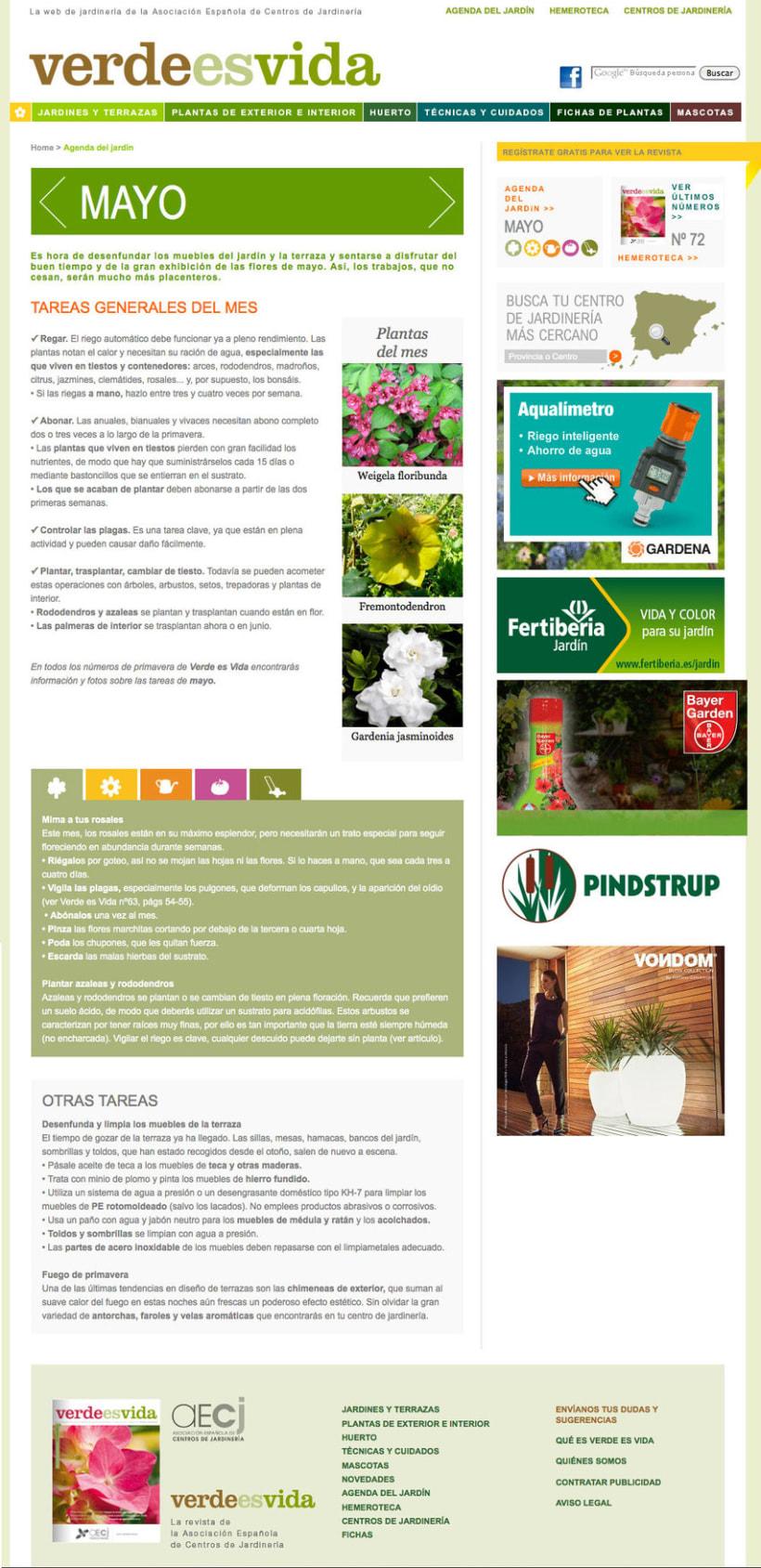Verdeesvida - Pagina a medida para la Asociación Española de Centros de Jardinería(aEcj) 2