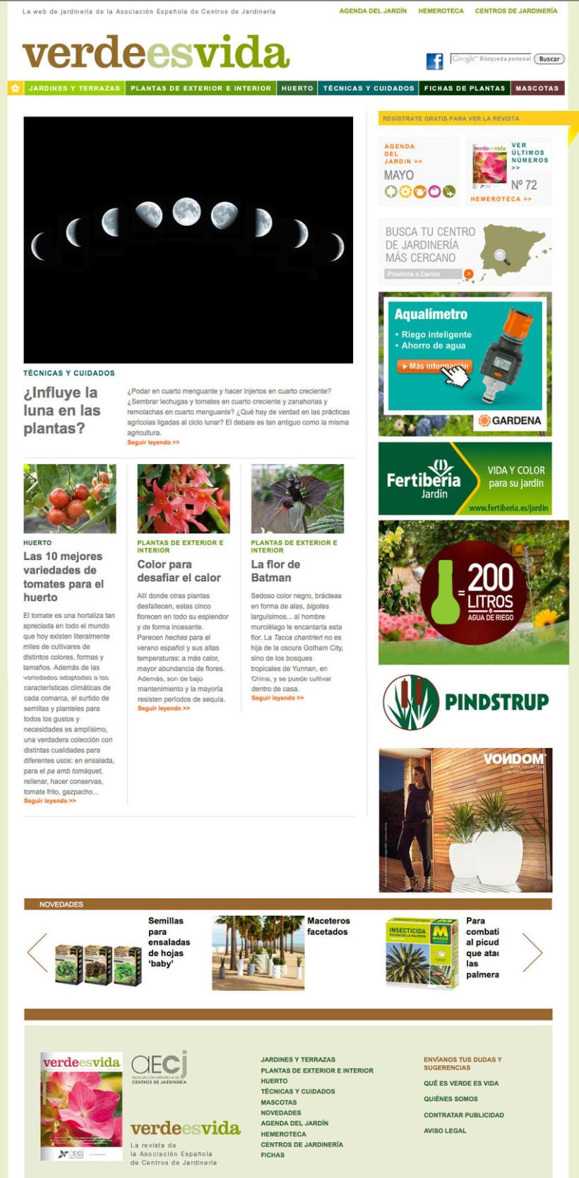 Verdeesvida - Pagina a medida para la Asociación Española de Centros de Jardinería(aEcj) 0