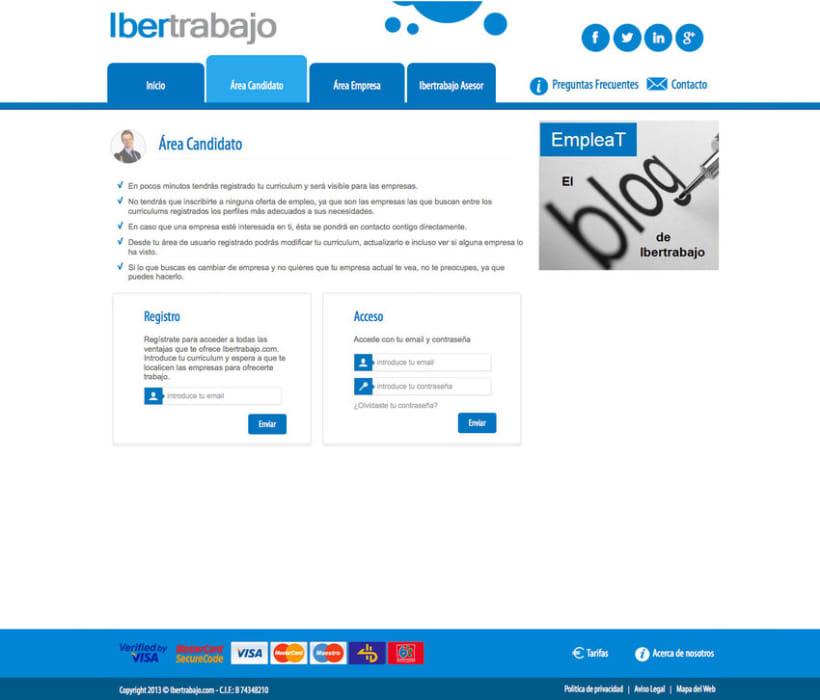 Ibertrabajo - Portal a medida de empleo realizado para empresa ibertrabajo 1