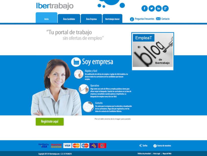 Ibertrabajo - Portal a medida de empleo realizado para empresa ibertrabajo 0