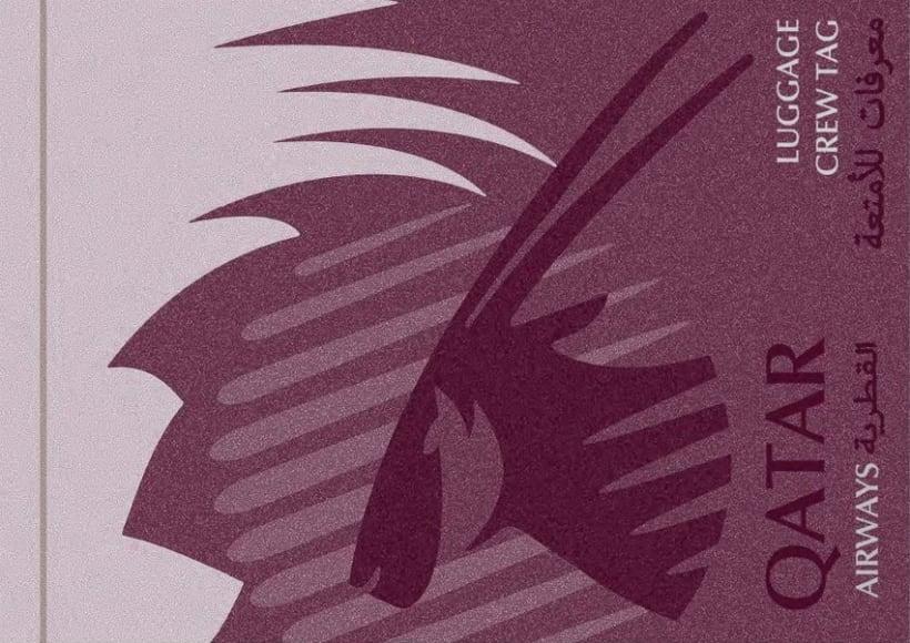 Crew Tags Qatar Airways / Propuesta de Tags identificadoras de equipaje  0