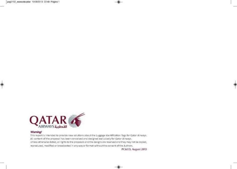 Crew Tags Qatar Airways / Propuesta de Tags identificadoras de equipaje  1