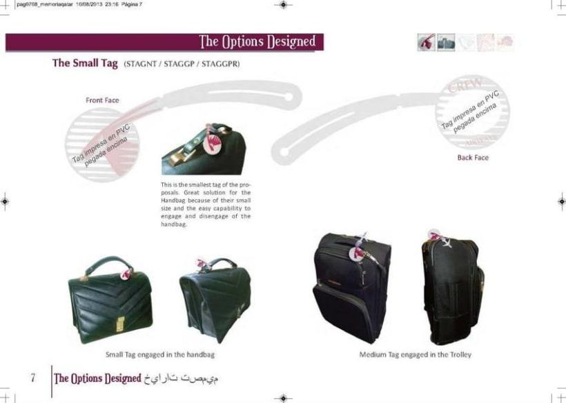 Crew Tags Qatar Airways / Propuesta de Tags identificadoras de equipaje  7