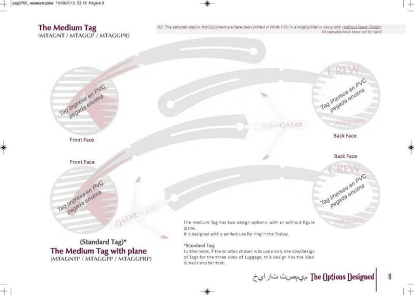 Crew Tags Qatar Airways / Propuesta de Tags identificadoras de equipaje  8