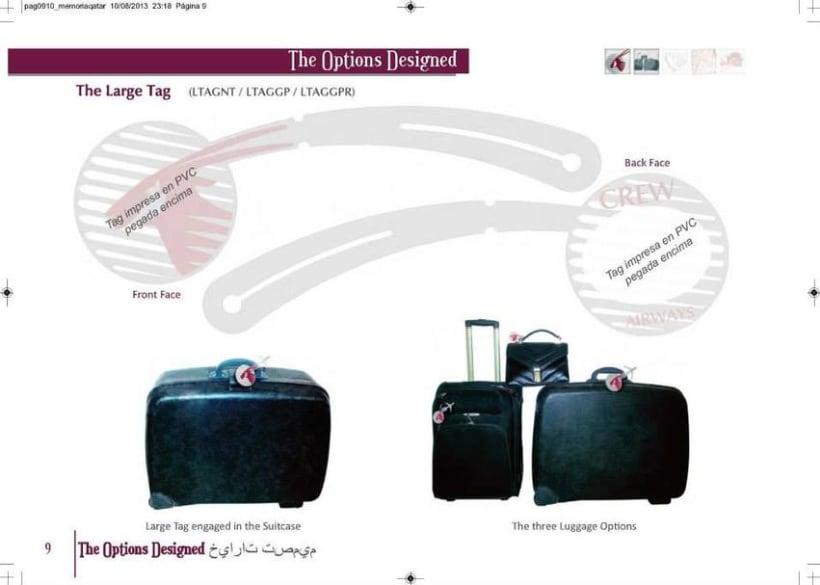 Crew Tags Qatar Airways / Propuesta de Tags identificadoras de equipaje  9