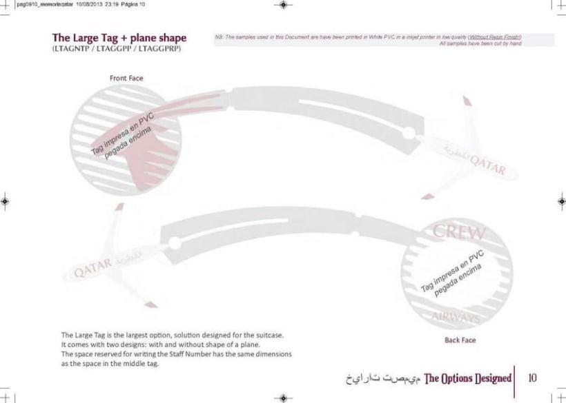 Crew Tags Qatar Airways / Propuesta de Tags identificadoras de equipaje  10