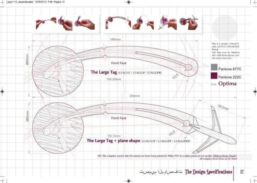 Crew Tags Qatar Airways / Propuesta de Tags identificadoras de equipaje  12