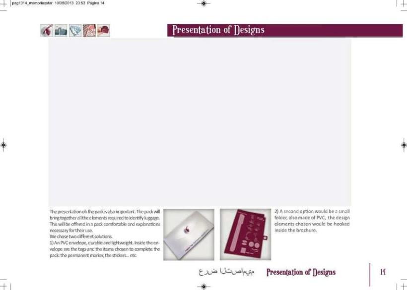 Crew Tags Qatar Airways / Propuesta de Tags identificadoras de equipaje  14