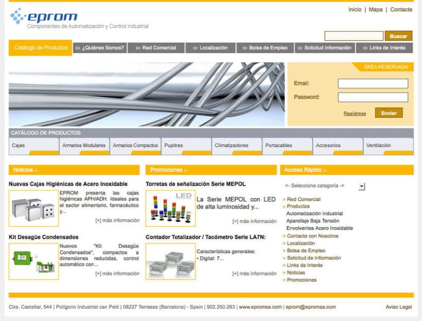 Eprom - Pagina a medida para empresa de componentes de automatización y control industrial 3