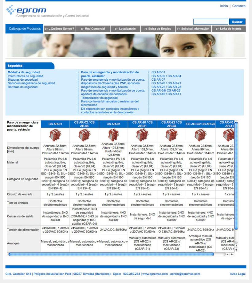 Eprom - Pagina a medida para empresa de componentes de automatización y control industrial 4