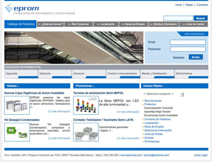 Eprom - Pagina a medida para empresa de componentes de automatización y control industrial 1