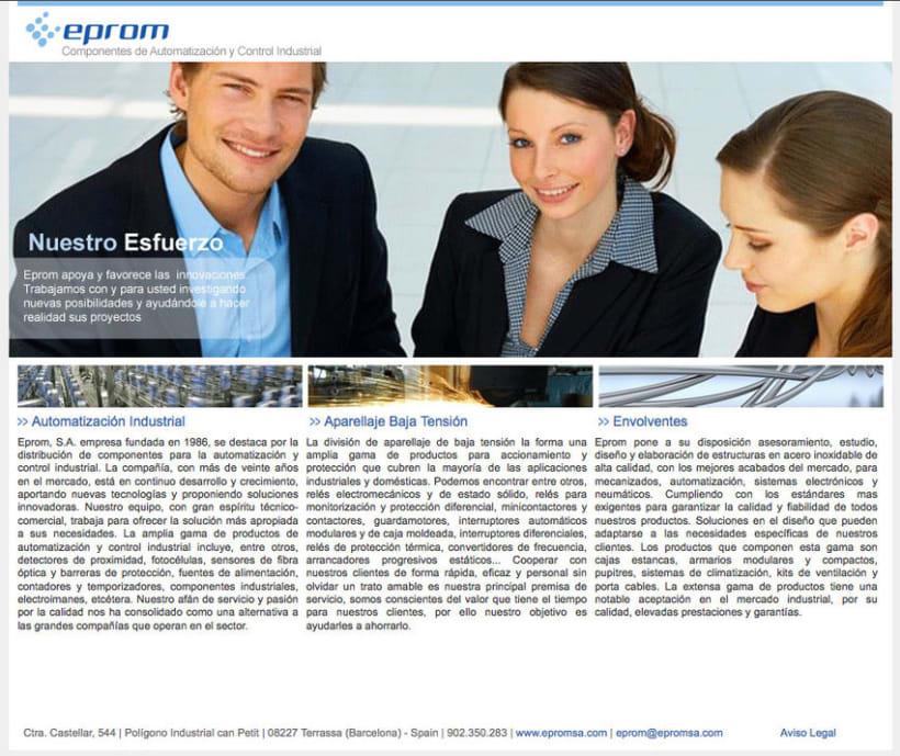 Eprom - Pagina a medida para empresa de componentes de automatización y control industrial 0