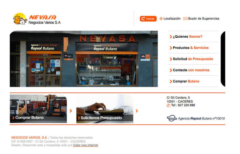 Nevasa - Pagina a medida para empresa de instalaciones de gas, calefacción, A.C.S... 0