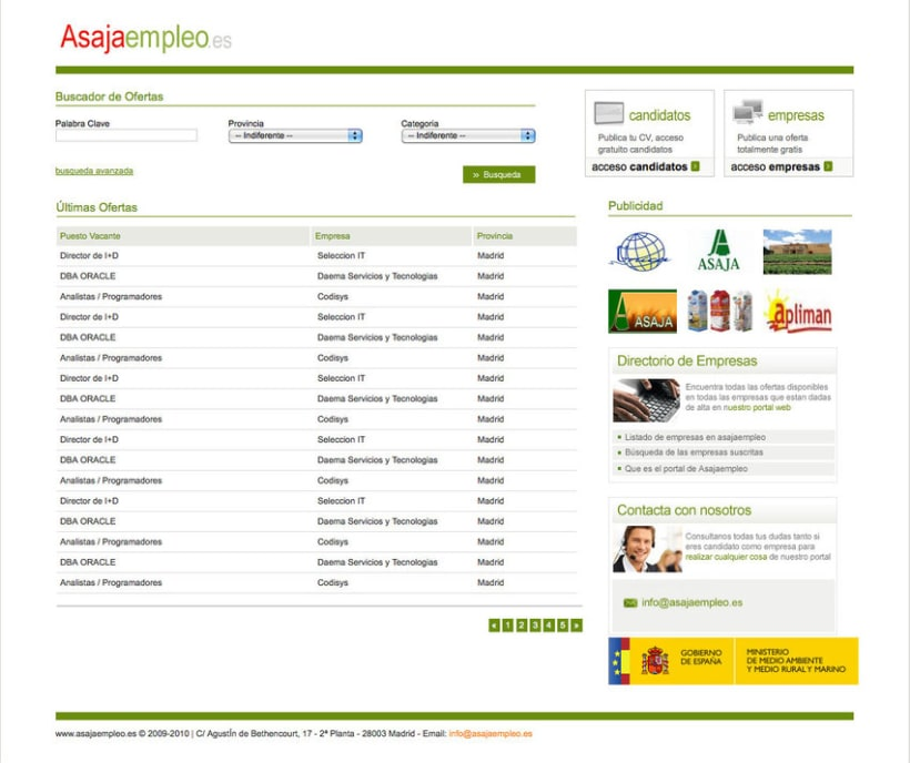 Asajaempleo - Portal de empleo para la Asociación Asaja 0