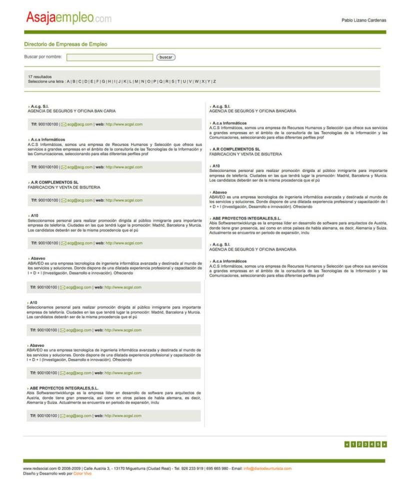 Asajaempleo - Portal de empleo para la Asociación Asaja 3