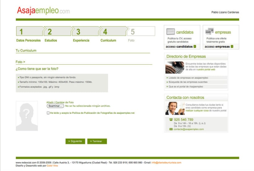 Asajaempleo - Portal de empleo para la Asociación Asaja 4