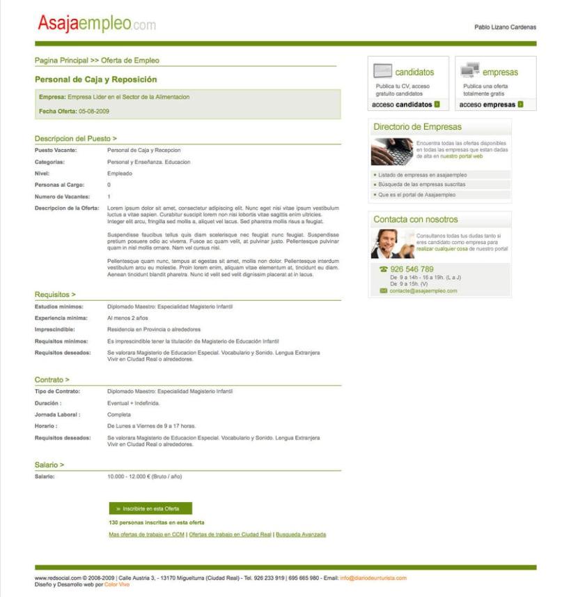 Asajaempleo - Portal de empleo para la Asociación Asaja 2