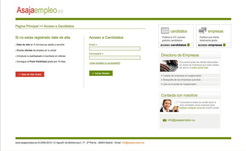 Asajaempleo - Portal de empleo para la Asociación Asaja 1