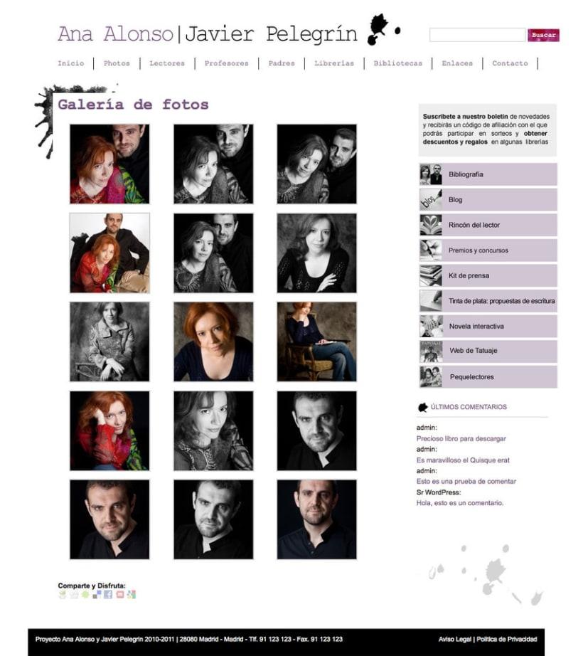 Ana Alonso y Javier Pelegrini - Gestor de contenidos para los escritores Ana Alonso y Javier Pelegrini 1