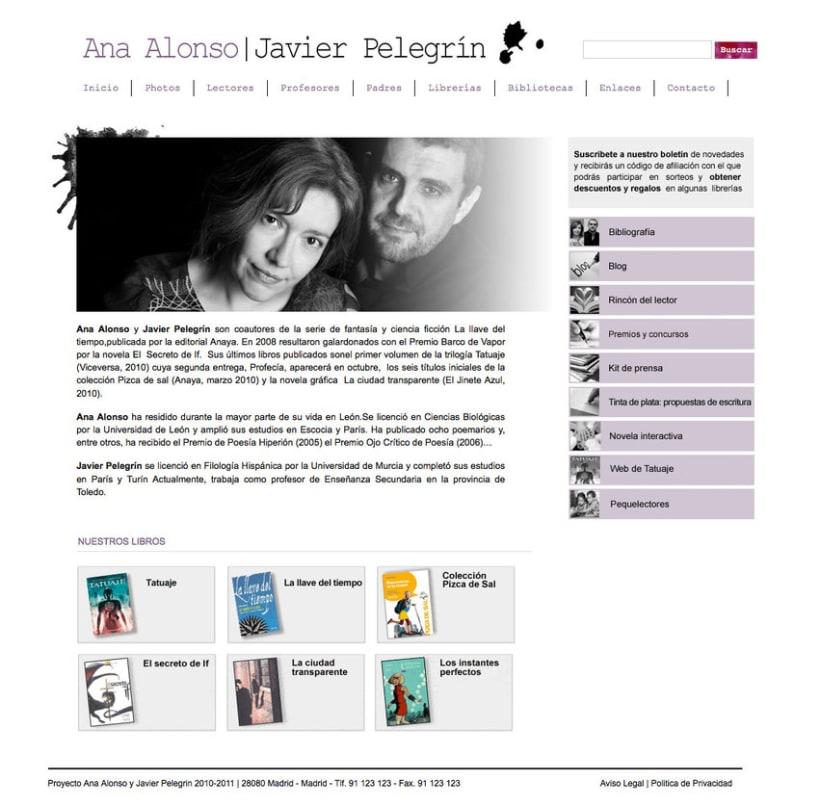Ana Alonso y Javier Pelegrini - Gestor de contenidos para los escritores Ana Alonso y Javier Pelegrini 0