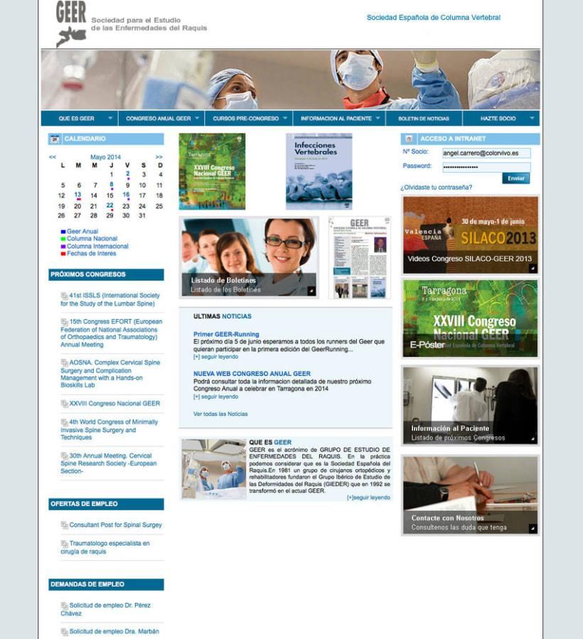 GEER - Plataforma online creada para la Sociedad para el Estudio de Enfermedades del Raquis -1
