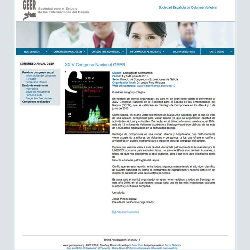GEER - Plataforma online creada para la Sociedad para el Estudio de Enfermedades del Raquis 0