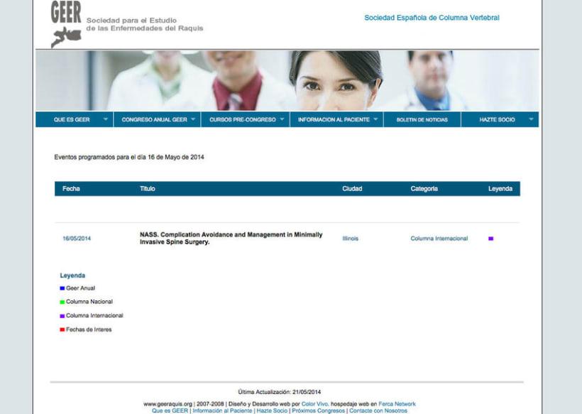 GEER - Plataforma online creada para la Sociedad para el Estudio de Enfermedades del Raquis 1