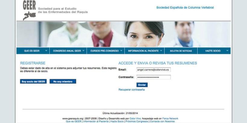 GEER - Plataforma online creada para la Sociedad para el Estudio de Enfermedades del Raquis 2
