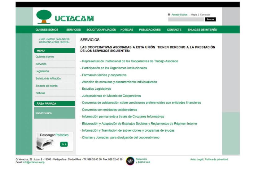 UCTACAM - Gestor de contenidos desarrollado para la Unión de Cooperativas de Trabajo Asociado Autónomas Manchegas 1
