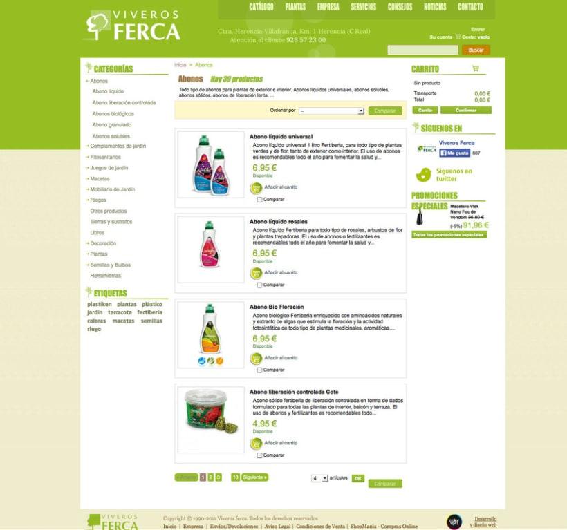 Tienda Viveros Ferca - Tienda online desarrollada para Viveros Ferca 1