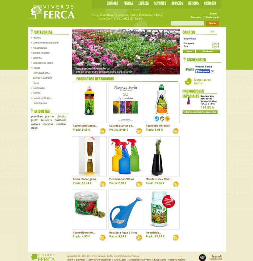 Tienda Viveros Ferca - Tienda online desarrollada para Viveros Ferca 0