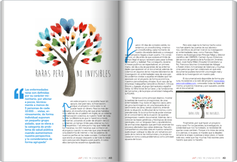 JoF magazine: Diseño editorial 5