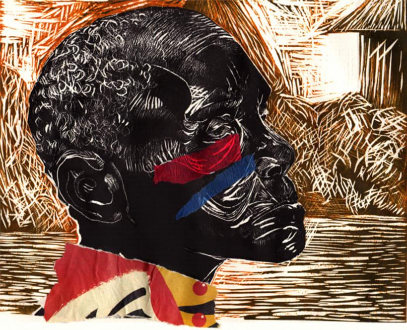 Grabado (xilografía y collage) -1